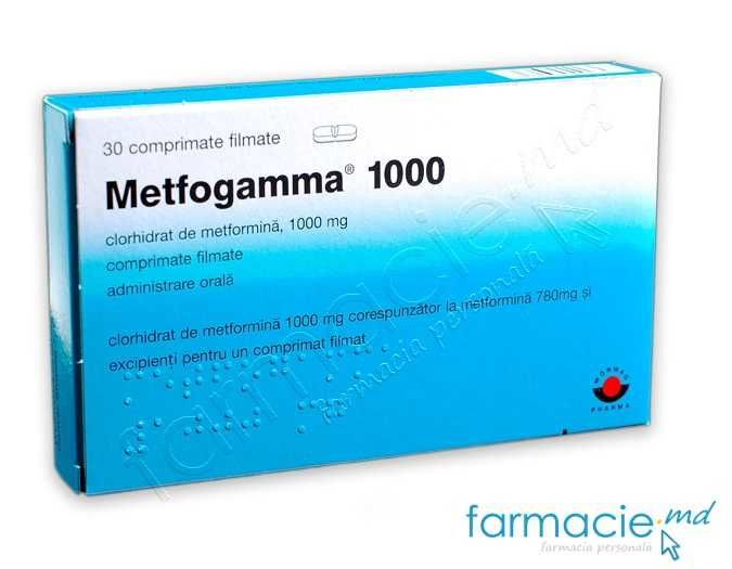 Metfogamma-1000 comp.film. 1000mg. N15x2
